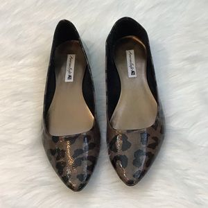 American Eagle Brown/Black Cheetah Flats 7.5